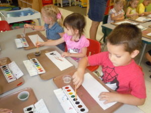 martin luther school joplin missouri preschool children painting
