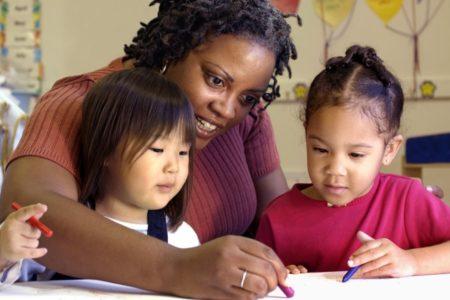 christian education meeting. children and teacher learning together. Immanuel Lutheran Church LCMS. Joplin, Missouri.