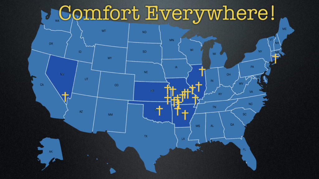 map of joplin comfort dog deployments