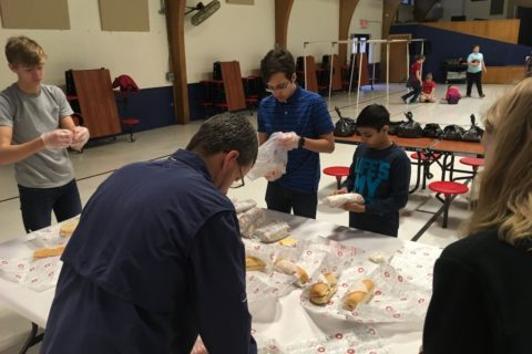 Immanuel Joplin Youth 2018 Super Sub Sandwich Wrapping