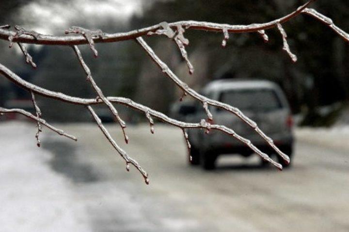 icy slick roads