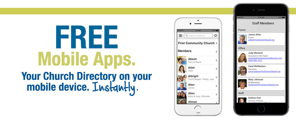 Instant Church Directory Free Mobile Apps Your Church Directory on your mobile device instantly