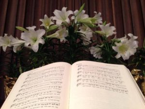 Easter Lilies Lutheran Service Book Altar at Immanuel Lutheran Church Joplin Missouri