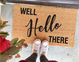 hello there welcome mat