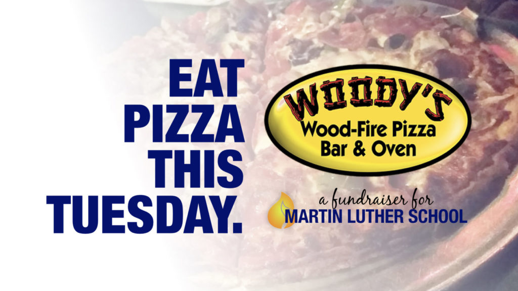 eat pizza this sunday woody's wood-fire pizza martin luther school joplin missouri