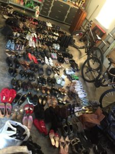 shoes in garage youth shoe drive