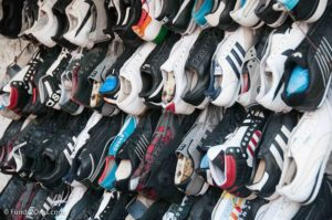 used shoes on display