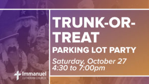 trunk-or-treat 2018 immanuel lutheran lcms joplin