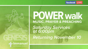 power walk saturday service music prayer preaching genesis immanuel lutheran joplin missouri lcms church