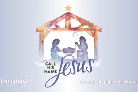 Call His Name Jesus daily advent devotions 2019