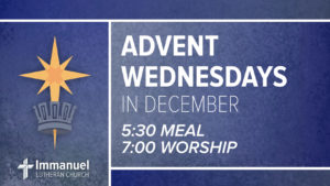 advent wednesday immanuel lutheran church joplin missouri meal worship december family