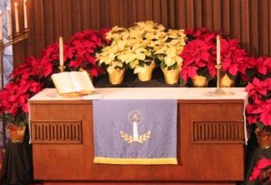 advent christmas altar immanuel lutheran church joplin missouri