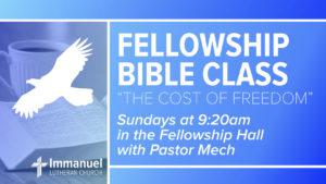 fellowship bible class the cost of freedom immanuel lutheran church joplin missouri
