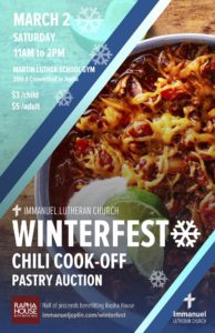 winterfest 2019 chili cook off poster