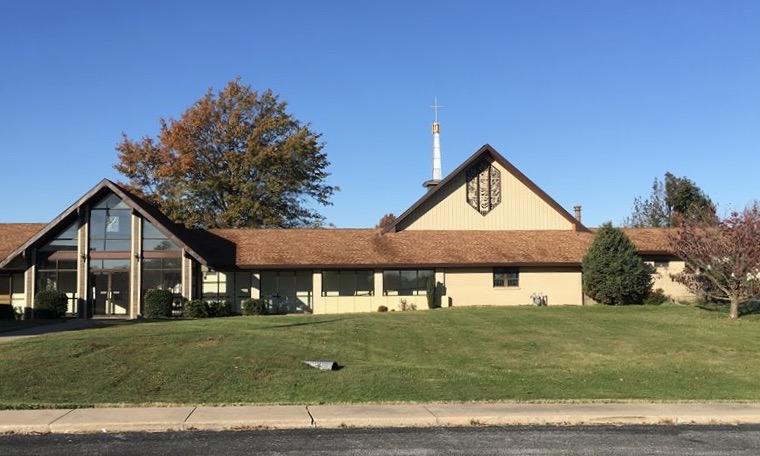 Immanuel Lutheran Church LCMS. Joplin, Missouri. 2616 Connecticut Avenue. exterior of church building on a sunny autumn day.