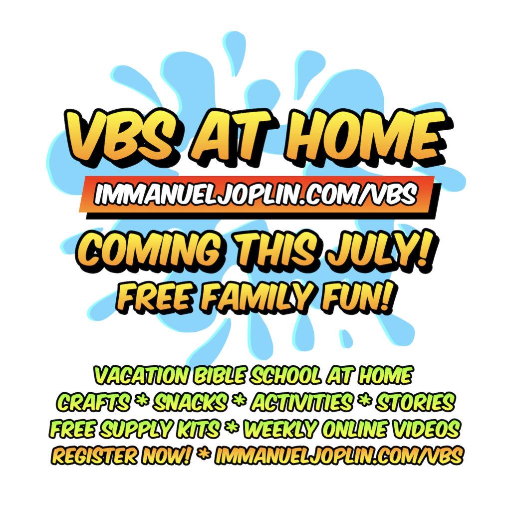 vbs at home 2020 immanuel lutheran joplin missouri vacation bible school