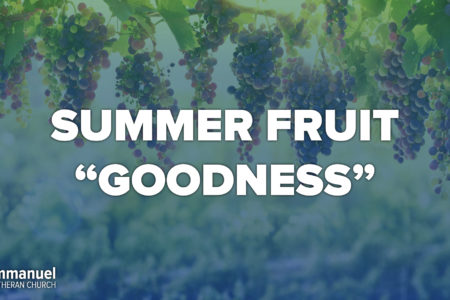 Summer Fruit Goodness. Ninth Sunday after Pentecost. Immanuel Lutheran Church LCMS. Joplin, Missouri.