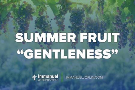 summer fruit gentleness. fourteenth sunday after pentecost. immanuel lutheran church lcms. Joplin, missouri.