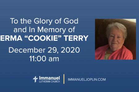 Cookie Terry Funeral. Immanuel Lutheran Church LCMS. Joplin Missouri.
