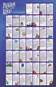 2021 Lent Family Calendar