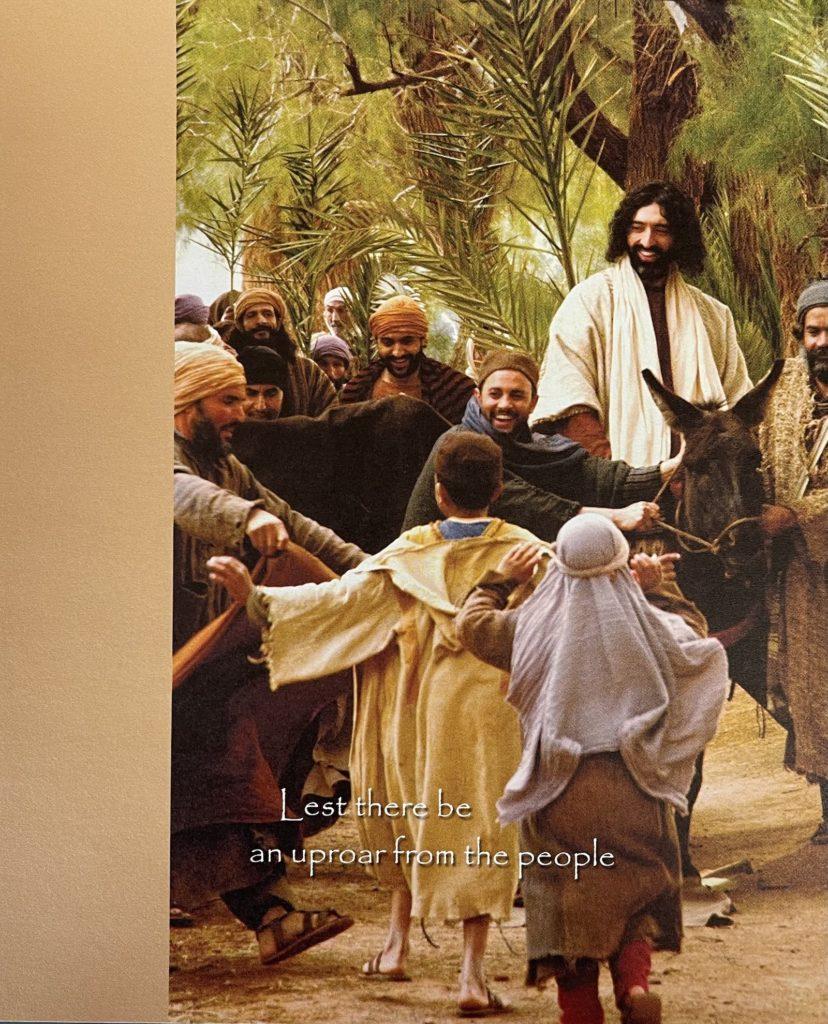 March 28 Palm Sunday bulletin cover. Immanuel Lutheran Church LCMS. Joplin Missouri.