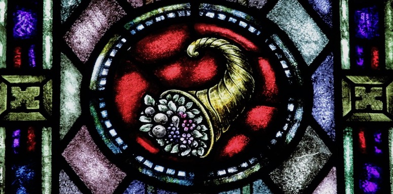 stewardship stained glass cornucopia