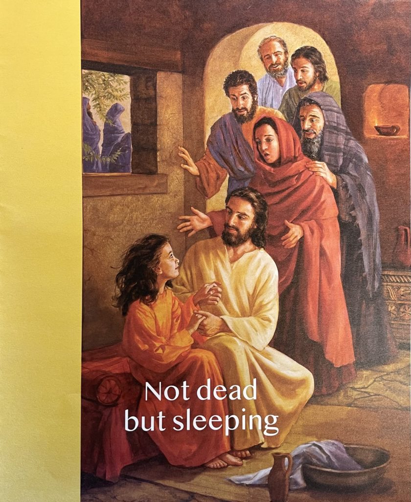 Not dead but sleeping. Pentecost 5. Immanuel Lutheran Church LCMS. Joplin Missouri.