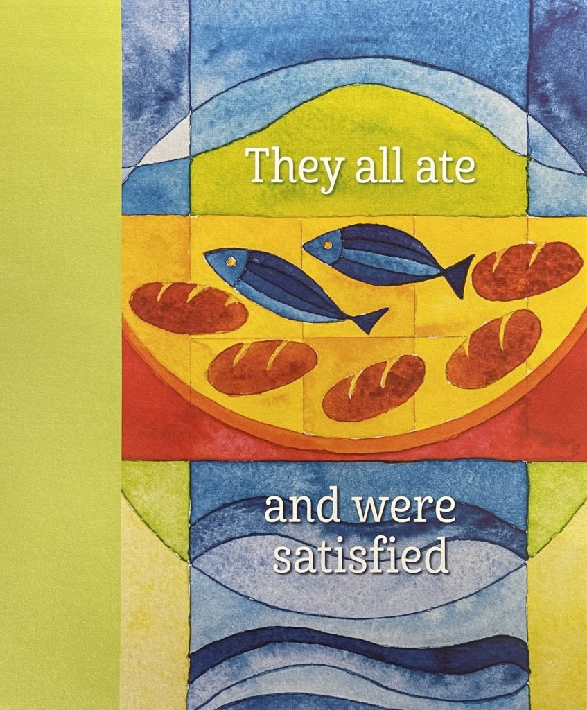 Pentecost 8 Bulletin Cover. They all ate and were satisfied. Immanuel Lutheran Church LCMS. Joplin Missouri.