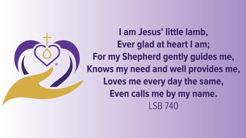 Kids Talk for LWML Sunday 2021. I Am Jesus' Little Lamb. Happy Hearts.